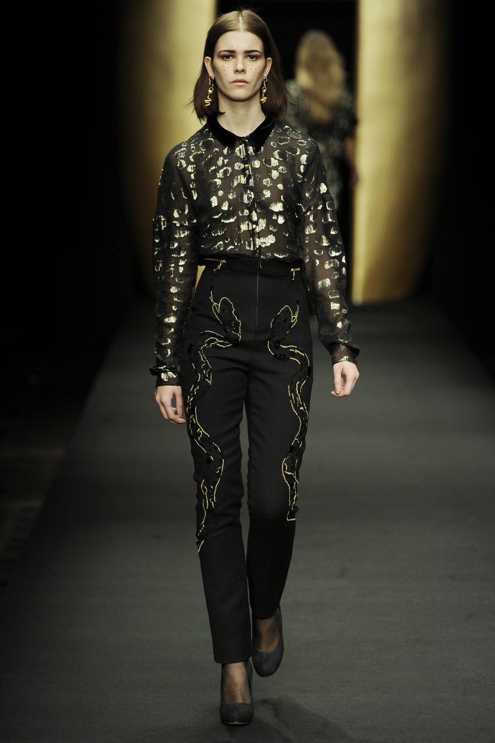 Anne Lindberg Embroidery Showpiece for Stine Goya Aw12
